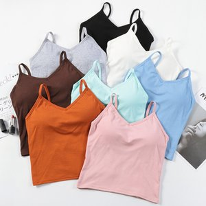 3Pieces Lot Women Tank Top Backless Camis Top Female Sexy Underwear Wire Free Backless Sexy Lingerie Sleeveless Crop Top Padded Camisole