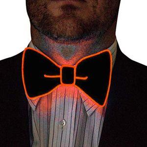 JAYCOSIN Tie Men Party Lighting Bow Tie Luminous Bow Batteries Batteries Led Solid Color Bowknot Wholesale Accessories Bowtie 1