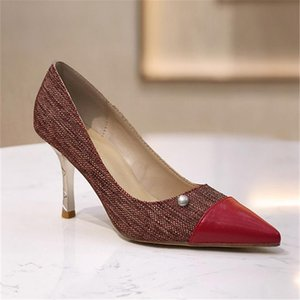 Fashion Pumps Luxury Design Shoes Woman Brand High Heels New Arrival Zapatos De Mujer Pointed Toe Ladies Shoes Pearl Heel Women