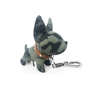 keychain dogs L letter leather keychains car fashion key ring lanyard cute key wallet chain rope chain portachiavi