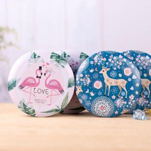 2pcs 8x4.5cm 11x4.5cm pink flamingos cute Sika deer European creative wedding candy box wholesale tin box drum shaped candy