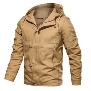 Men's Jacket Autumn Winter Outwear Hoodie Tactical Breathable Cargo Jackets Long Sleeve Coat Male Clothes Fashion