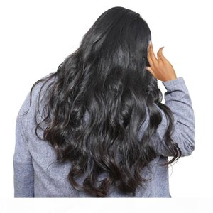 Body Wave Hair Wigs Glueless Virgin Unprocessed Peruvian Human Hair Natural Looking Long Black Body Wavy Lace Front Full Wigs For Women