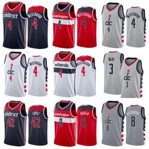Imprimir Baloncesto Russell Westbrook Jersey 4 Bradley Beal 3 Rui Hachimura 8 Robin Lopez 42 Cassius Winston 5 Deni Avdija 9 Ciudad Gris