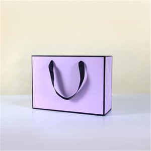 28cmx10cmx20cm New Creative design Black border Colorful kraft paper bag with handle Wedding Party Favor Paper Gift Bag PPD3272