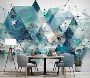 Custom Wallpapers 3D Landscape Stereo Geometric Modern Abstract Decor Painting Living Room Bedroom Wall Wallpaper Stickers