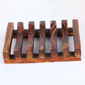Wood Soap Hollow Rack Natural Wooden Bamboo Soap Dish Tray Holder Sink Deck Bathtub Shower Dish Soap Box