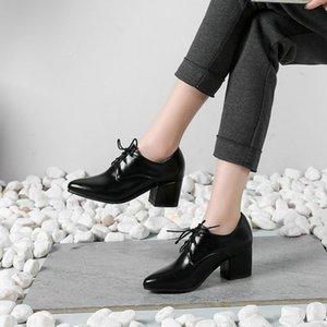 rugan ayakkabı bayanlar bomba kadar Üst Sonbahar plütonyum sivri burun metrekarelik badi yüksek topuklu oxford kadın dantel