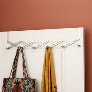 Multipurpose Stainless Steel Retractable Folding Coat Hook Door Hook Hat Scarf Holder Home Decor