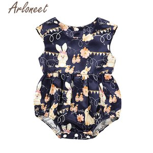 ARLONEET Baby Rompers Summer Girls Cartoon Rabbit Rompers Jumpsuit Sleeveless Cotton Rompers Kids Newborn Baby Jumpsuit Outfits Z1118