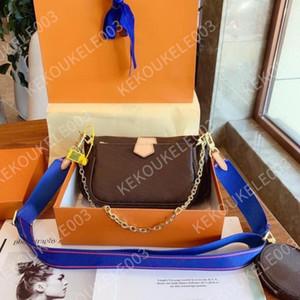 حقيبة يد المرأة حقائب متعددة pochette حقيبة سلسلة crossbody حقيبة الأزياء حقيبة الكتف الصغيرة 3 قطع محفظة متعدد الألوان الأشرطة 44823