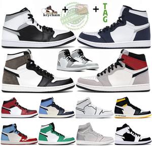1s Scarpe da pallacanestro Uomo scott 1 alto OG Punta nera Non per la rivendita Sneakers firmate uomo Scarpe da ginnastica multicolor nere gialle a bassa ombra