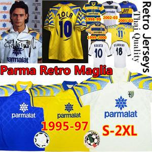 Retro Parma Magly Classic Vintage Soccer Jerseys 1995 96 97 1998 99 2000 02 03 Crespo Zola Cannavaro Thuram Nakata Men Kits Camisetas de fútbol