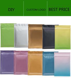 Matt Cleas Resellable Zip Mylar Bolsa Almacenamiento Aluminio Bolsas de papel de aluminio Olor de plástico Bolso a prueba de olor en stock