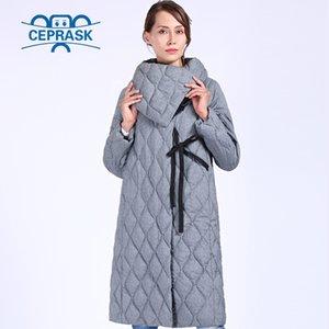 Ceprask New High Quality Good Parkas Plus Размер Длинные Зимние Куртка Женщины Био Пуховые Теплые Зимние Зимы Верхняя одежда 201027