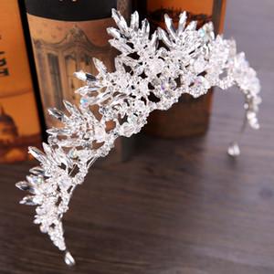 Vintage Style Women Crystal Crown Bride Wedding Tiaras Hair Jewelry Birthday Party Headwear for Women Wedding Dress Accessories