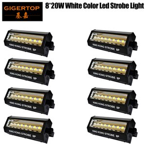 TIPTOP 8 единиц Белый цвет Kingkong Сценическое DMX светодиодные Strobe Light Передняя решетка LED Strobe вспышки Предупреждение Light Bar Fog Lamp