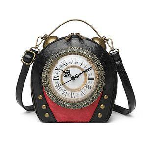 Bag Shoulder New Bag Handbag Package Hand-held Clock Women's Retro One Cross Women's Walkable C1120 Faibe