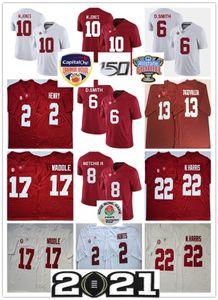 Alabama Crimson Tide College Football Jerseys Jalen here a Derrick Henry Jerry Jeudy Tua TAGOVAILOA JAYLEN WADLEN JERSEY CUSTITED