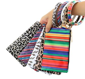 Women's Keyring Leather Wallet Cell Phone Purse Clutch Wallet PU Wallet Bracelets with Bangle Keychain Designer Handbags TOP9988