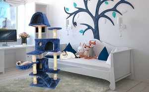 51'' Cat Tree Scratching Condo Tower Furniture Scratch Post Pet House for Kitten