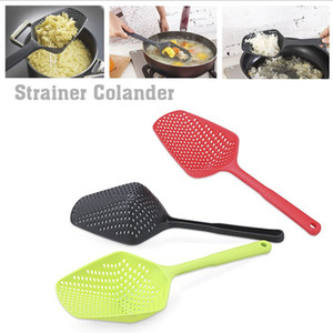 Colander Large Plastic Cooking Shovels Long Colander Vegetable Strainer Scoop Leaking Shovel Nylon Spoon Soup Filter Kitchen Utensils