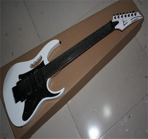 Free shipping 2021 Japan made 7 Strings JEM 7V Guitar, Jumbo Fret Wire, Abalone Vine Inaly White Electric Guitar