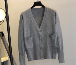 2019whosale-neue ankunft thom braun sport beiläufige sweatshirt riri beschriftung reißverschliff cardigan, blaue und schwarze graue Hoodies