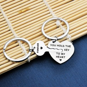 Hot Sale You Hold The Key to My Heart Forever Couple Stainless Steel Keychain