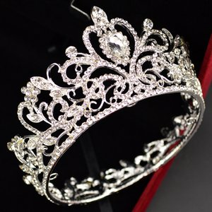 Baroque Gold and Silver Crystal Bridal Crown Fashion Handmade Ladies Headdress Wedding Photography Rhinestone Hair Accessories