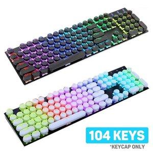 104 قطعة / المجموعة شفافة مفتاح غطاء غطاء لوحة المفاتيح الميكانيكية استبدال لوحة المفاتيح الميكانيكية استبدال لوحات المفاتيح caps1
