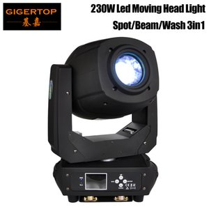 TIPTOP 230W LED نقل رئيس ضوء شعاع بقعة تكبير قيثارة دوران 6 + 5 اثنان تأثير بريزم نقل رئيس لDJ ديسكو حزب ضوء