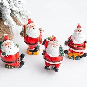 2020 New Mini Santa Snowman Accessories Gift Box Fairy Garden Figurines Doll House Decoration Christmas Essentials