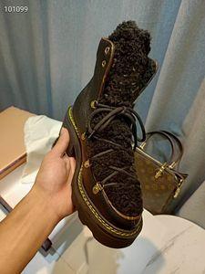 2021 winter wool shoe women platform snow boots women's classic femmes designer boots straps warm martin boot yg1111