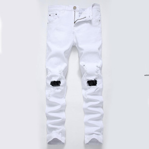 Jh Wholesale Men &#039 ;S Jeans Jeans Pour Hommes Tide Hole Nostalgic Big Tattered Men &#039 ;S Denim Trousers Causal Pants s