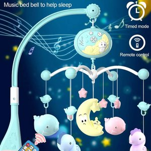 Baby Crib Mobile with Remote Controll Music Box Night Light Rotate Newborn Sleeping Bed Toys Infant Rattle Baby Toys Z1124