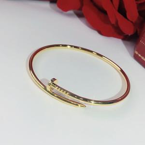 S925 Sterling Silver Silver Nails Braccialetto classico Braccialetti d'oro Punk per le donne Migliore regalo Lussuoso Brands di gioielli di qualità Superiore Brands Bangle