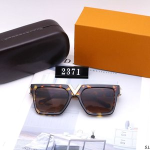 Mens Woman Sunglasses Designer Sunglasses Man Summer Goggle Glasses UV400 V Letter 2371 5 Colors Highly Quality with Box
