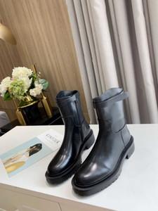D Высококачественные женские роскоши дизайнер мода повседневная плоская кожаная кожаные ботинки на высоком каблуке