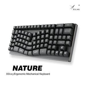 XBOW X-BY Nature Mechanical Keyboard PCB 인체 공학적 광 스위치 RGB LED 유형 C 포트 핫 스왑 가능 스위치 소켓