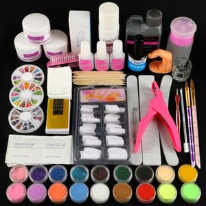 COSCELIA Acrylic Nail Kit Acrylic Powder With 30\120ml Liquid Nail Glitter Powder Extension Kit For Manicure Tools