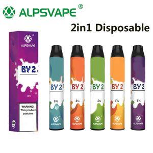 Original Alpsvape by2 vape vape 3ml + 3 ml 2in1 Vapor Dispositivo de vapor 900mAh por 2 Vape Pen Stick System100% Auténtico Kangvape Onee