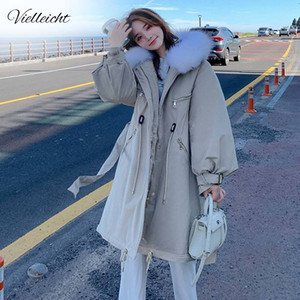 Vielleicht New Women's Winter Jacket Long Parkas Women Winter Coat Down Jacket Cotton Liner Winter Jacket Women Clothing 201125