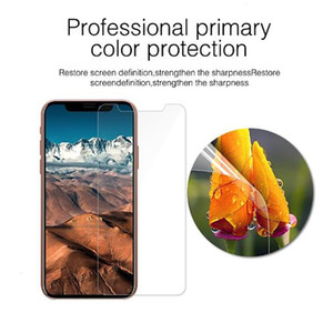 phone 100Pcs 2.5D Tempered Glass 9H Premium For 11 Pro Max XS XR X 8 7 6 6S Plus HD Screen Protector Film Guard With Pac