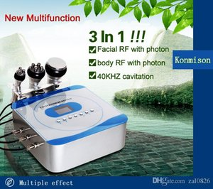 THE 40KHZ ULTRASONIC cavitation 5Mhz radio frequency and red led light face and body beauty machine for beauty salon