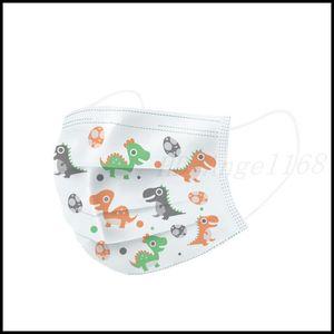 Máscaras de cara de niños desechables calientes Grueso 3 capas de máscaras transpirables con la máscara al aire libre de la casa del polvo de la casa cómoda