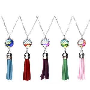Anhänger Halskette Leere Quasten Sublimation Halsketten Anhänger Für Frauen DIY Benutzerdefinierte Schmuckgeschenke Neue Stil 5 Kochen Großhandel