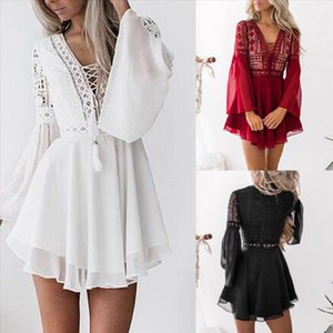 Women Lace Bodycon Cocktail Party hot Dress Female Bandage Dresses Ladies Sexy Party Long Sleeve Dress vestidos mujer verano