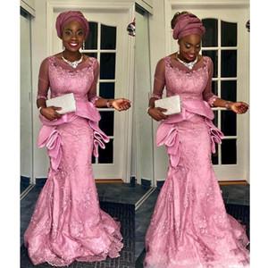 2021 African Jewel Sleeveless Mermaid Formal Evening Dress Illusion Peplum Tiered Custom Made vestidos de gala