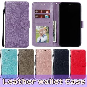 For Samsung S10 Wallet Case Luxury PU Leather Phone Back Case Cover with Card Slots For Samsung A10 A30 A40 A50 M20 A20E